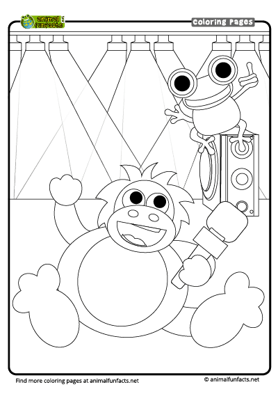Free Orangutan Coloring Page, Download Free Clip Art, Free Clip ... | 566x400