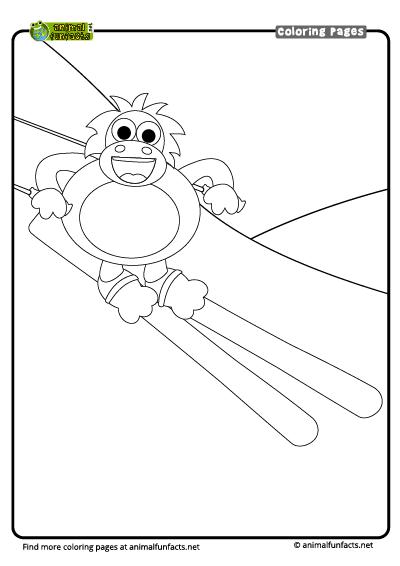 Orangutan Coloring Page - Coloring Home | 566x400